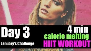Calorie Melting 4 Minute Hit Workout - suitable for every fitness level &  you will feel it working