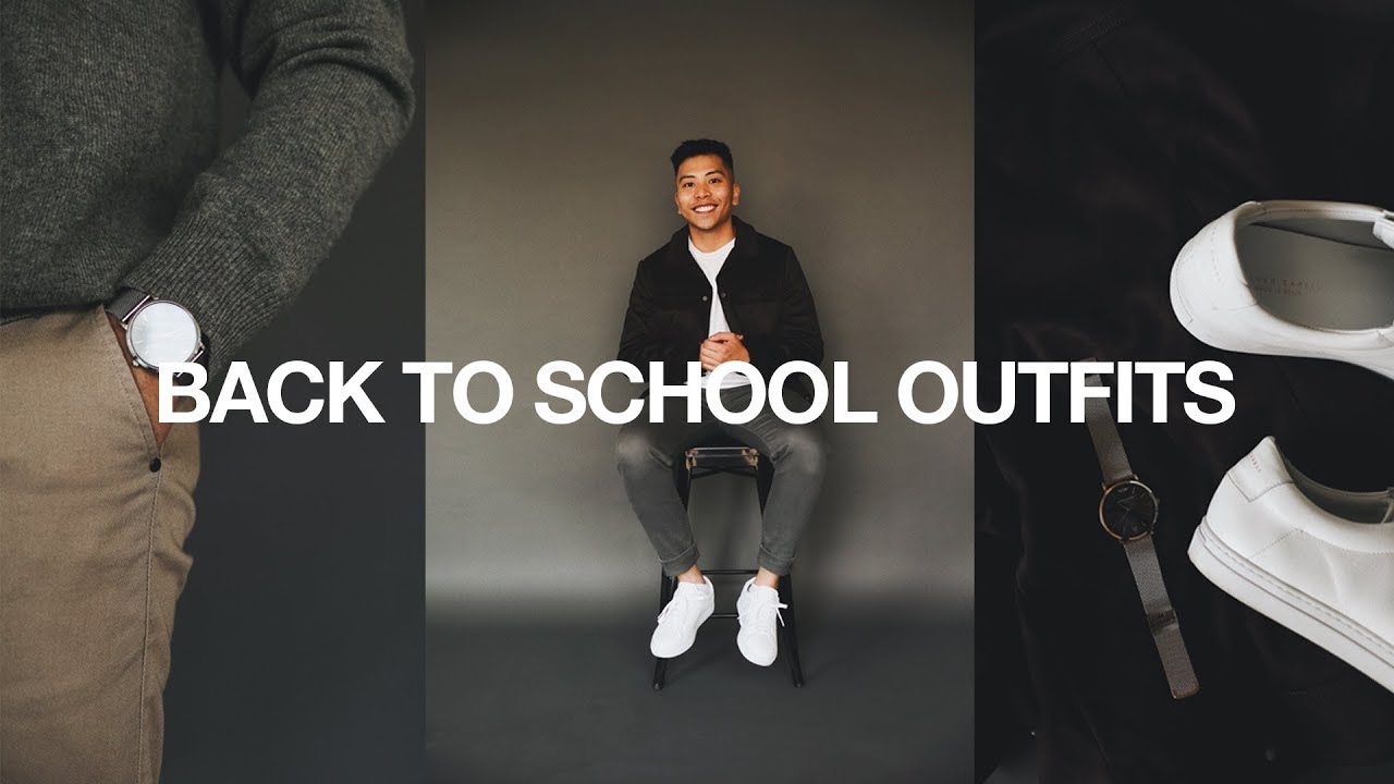 [VIDEO] - FIVE Back To School Outfits / Simple & Easy 4