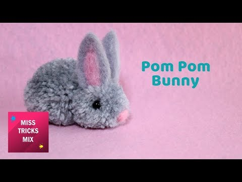 Tiny Pom Pom Bunny | Easter Crafts.