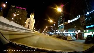 Видеорегистратор Teyes A7 - ночная съемка