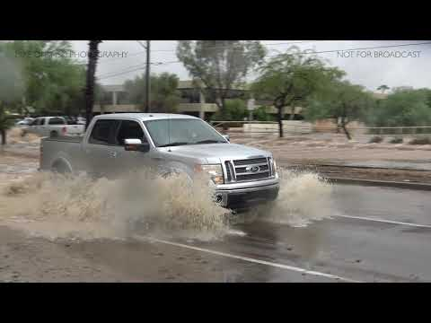 Phoenix, Arizona Area Flooding October 2nd, 2018 - Remnants of Hurricane Rosa