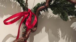 Jak zrobić szybką i ładną dekorację na drzwi. Boże Narodzenie.