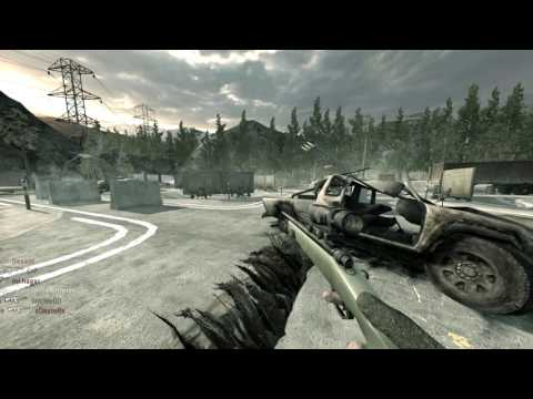 Call Of Duty 4# Sniper no scope m40a3 across map wallbang hitmarker