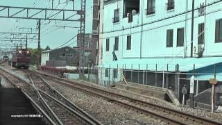 JR貨物 配6551レ EF81 729号機+空コキ5両(H26.5.2)