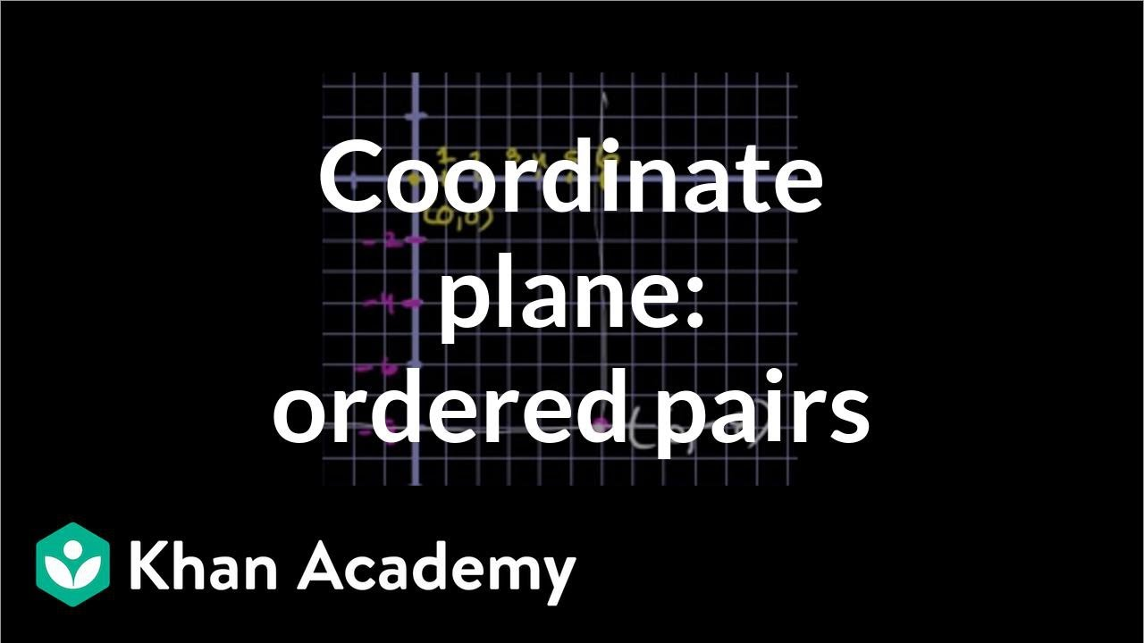 medium resolution of Plotting a point (ordered pair) (video)   Khan Academy