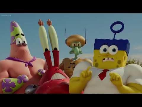 SpongeBob out of water backwards