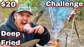 7 Day $20 Dollar Tree Survival Challenge - Day 6 - Deep Fried Mystery Meat!