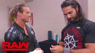 Seth Rollins and Dolph Ziggler meet in the trainer's room: Raw, Sept. 17, 2018