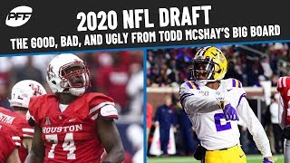 2020 NFL Draft: The Good, Bad, and Ugly From Todd McShay's Big Board | PFF