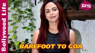 Esha Deol spotted at 'Barefoot to Goa' Trailer Launch