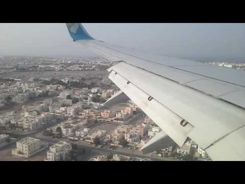 Oman air b737-900 landing at muscat international airport