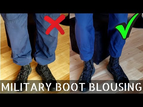 How To blouse your boots like a pro