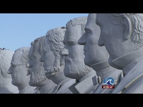Man who helped construct Presidents Park kept concrete heads of presidents at farm