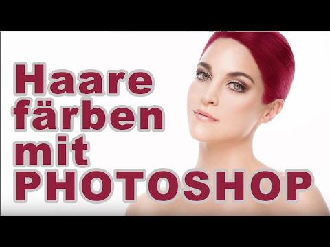 Haare Färben Mit Photoshop Youtube