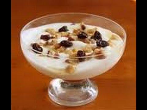 Yogurt con frutos secos buenos para adelgazar Video - YouTube