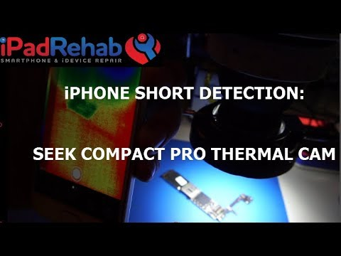 Seek Compact Pro Thermal Cam Versus My Face For IPhone Short Circuit Detection