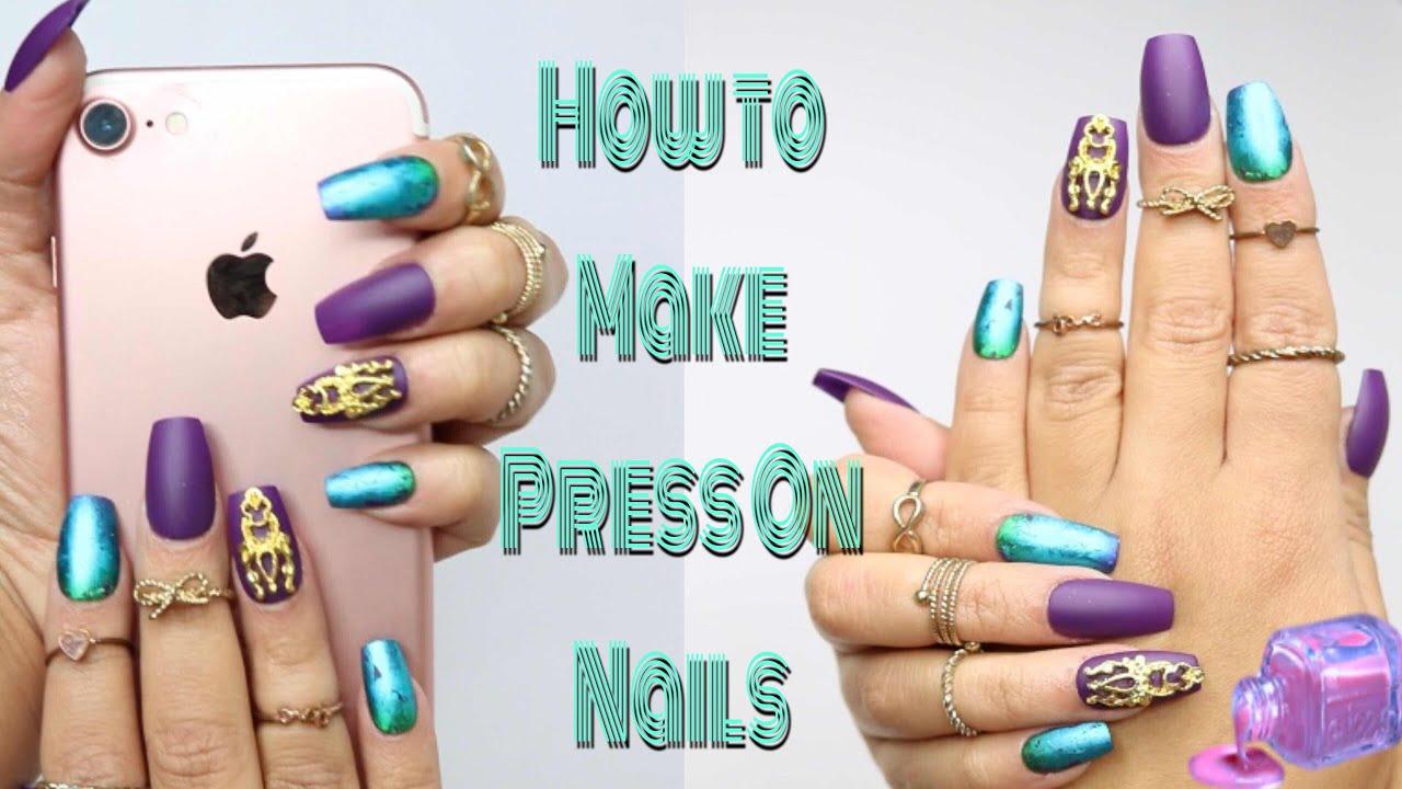 diy fake nails make press