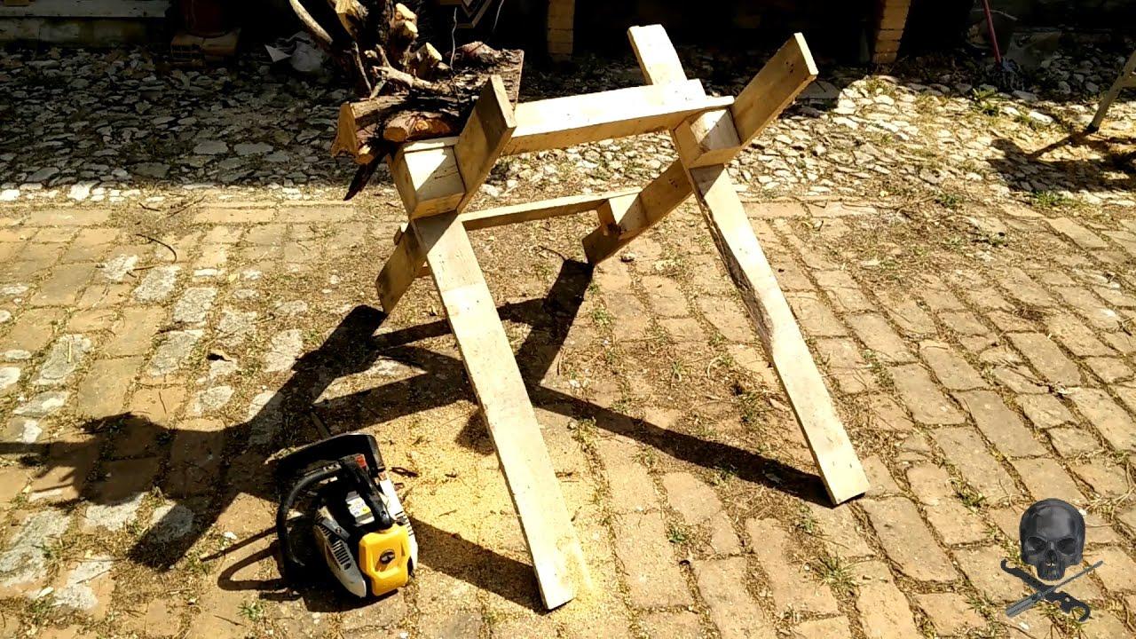 Cavalletto taglio legna con pallet riciclati youtube