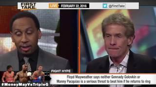ESPN First Take  Floyd Mayweather Calls Out Triple G  Manny Pacquiao