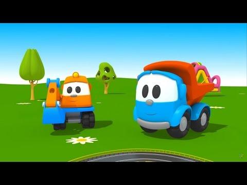 Leo Junior - eğitici çizgi film. Araba pisti ve kumandalı oyuncak arabalar!