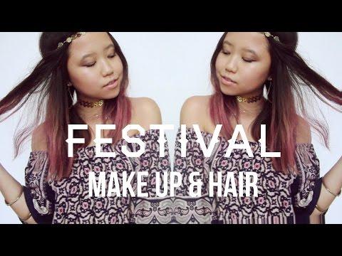FESTIVAL MAKE UP & HAIR / daze and amuse