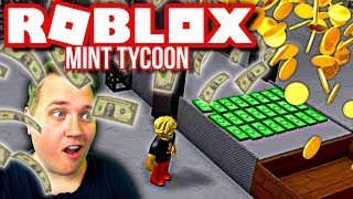 PRESSING ROBUX AND NOTES! 💵:: Roblox Mint Tycoon English-Ep. 5