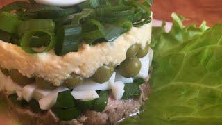 Простой нежный салат за 15 минут!