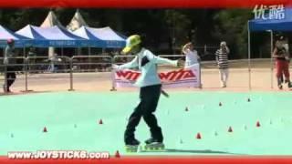 世界轮滑冠军中国女孩陈晨 甩葱歌轮滑 让你知道什么才叫轮滑