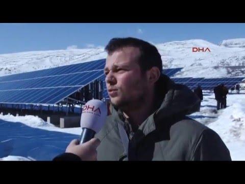 Erzurum'da güneş enerji santrali kurdu