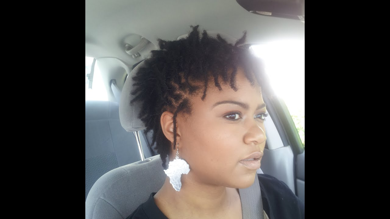 Loc Faux Hawk Style For Short Locs Youtube