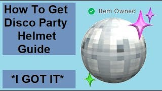 COMMENT GET DISCO BALL HELMET IN ROBLOX PIZZA PARTY EVENT!!!! 'I GOT IT'