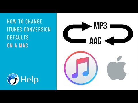 How to Change iTunes Conversion Defaults on a Mac