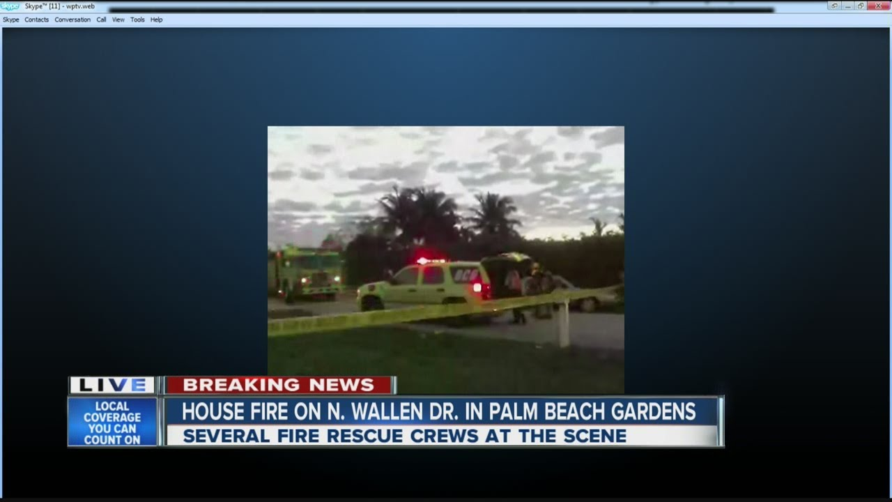 House fire on n wallen dr in palm beach gardens youtube for Fire in palm beach gardens today