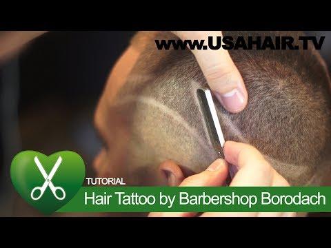 Hair Tattoo by Barbershop Borodach. parikmaxer TV USA