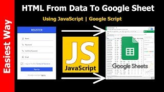 HTML Form Data To Google Sheet Using Javascript | Source Code