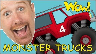 Monster Trucks for Children from Steve and Maggie   Learning Speaking Stories with Wow English TV