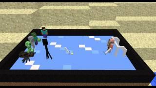 monster school ice hockey minecraft animation