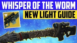 Destiny 2 NEW LIGHT PLAYER GUIDE - WHISPER OF THE WORM SOLO