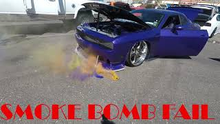 Smoke Bomb Fail. Mopar Action Cover Story Dodge Challenger Smoke Bomb Fail Video
