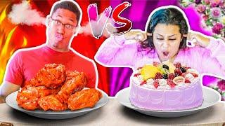 SWEET VS SPICY FOOD CHALLENGE!!