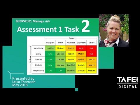 Assessment 1 Task 2c Risk Matrix Manage Risk BSBRSK501