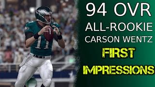 94 OVR All-Rookie Carson Wentz   First Impressions   Madden 17 Ultimate Team Gameplay   MUT 17