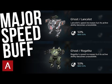 War Robots - Ghost Pilot Skill Is BEST Speed Skill For Lancelot And Rogatka | Ghost Gameplay