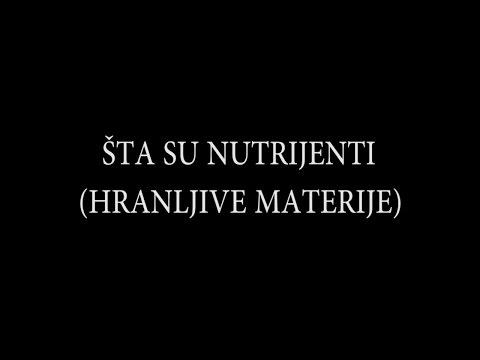 Šta su nutrijenti (hranljive materije)???