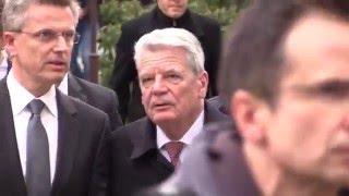Bundespräsident Joachim Gauck wird in Bautzen als