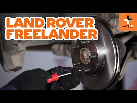 How to change front brake discs and brake pads LAND ROVER Freelander 1 TUTORIAL | AUTODOC