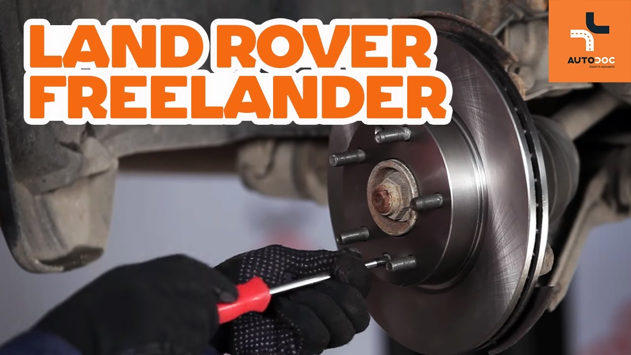 hight resolution of how to replace front brake discs and brake pads land rover freelander 1 tutorial autodoc