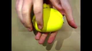 Силиконовый кошелек для мелочи желтый (мелочница) BB 1012