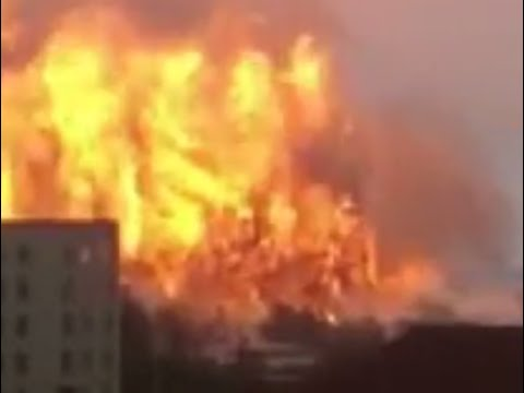Zibo Shandong province chemical warehouse explosion after Ti