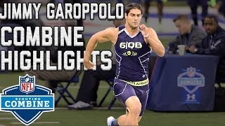 Jimmy Garoppolo's 2014 Scouting Combine Workout | NFL Highlights